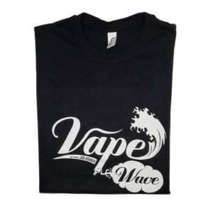 T-Shirt Noir Vape Wave