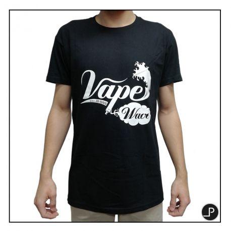 T-Shirt Noir Vape Wave