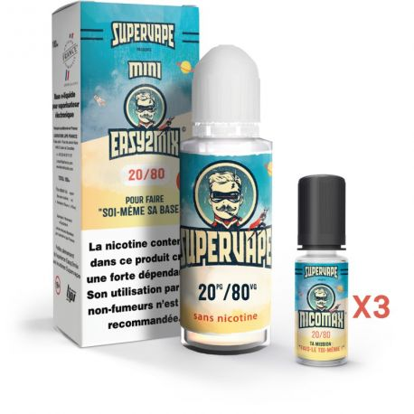 Pack Easy 2 Mix E-liquide DIY 20/80 100ml
