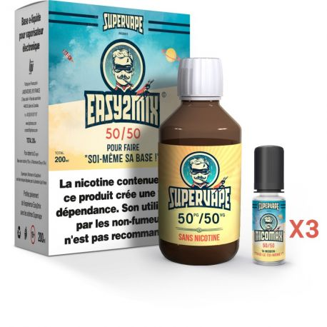 Pack Easy 2 Mix E-liquide DIY 50/50 200ml