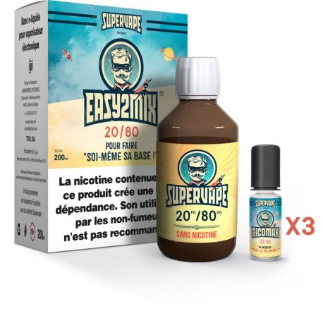 Pack Easy 2 Mix E-liquide DIY 20/80 200ml