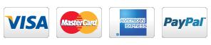 PIPELINE paiement Visa, Mastercard, American Express, Paypal